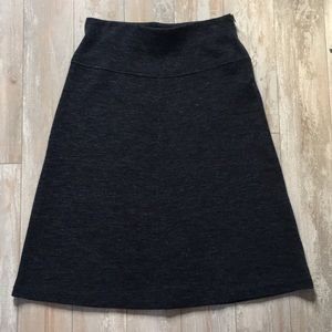 LOFT Skirt M Navy Heather